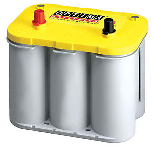 Optima Yellow Top Deep Cell Car Battery 12V, 750CCA Top Post