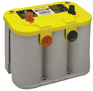 Optima Yellow Top Deep Cell Car Battery 12V, 750CCA Top Post & Side Terminal