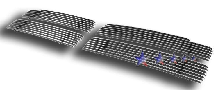 Dodge Ram  1994-2001 Polished Main Upper Aluminum Billet Grille