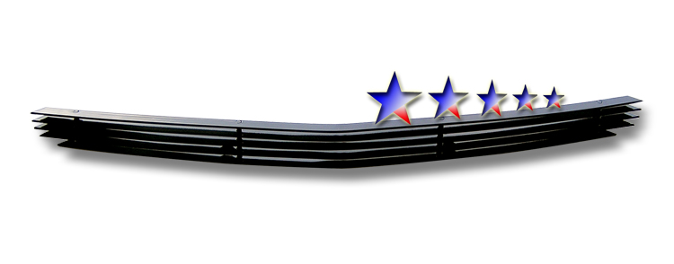 Dodge Charger  2005-2010 Black Powder Coated Lower Bumper Black Aluminum Billet Grille