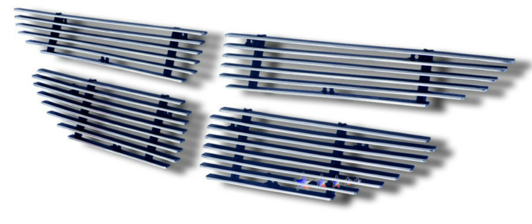 Dodge Caravan Se 1999-2000 Polished Main Upper Aluminum Billet Grille