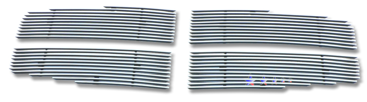 Dodge Durango  2004-2006 Polished Main Upper Stainless Steel Billet Grille