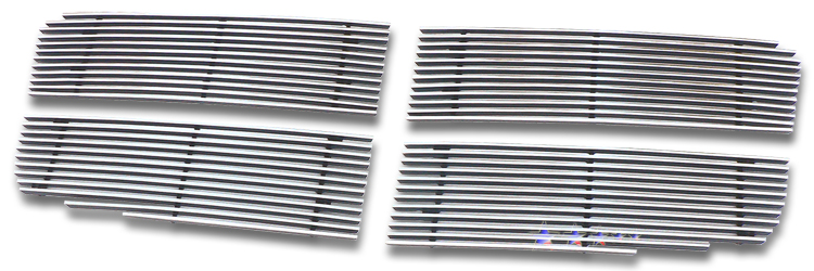 Dodge Durango  2007-2010 Polished Main Upper Stainless Steel Billet Grille