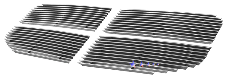 Dodge Nitro  2007-2011 Polished Main Upper Aluminum Billet Grille