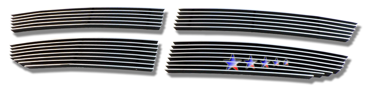 Dodge Avenger Sxt 2007-2010 Black Powder Coated Main Upper Black Aluminum Billet Grille