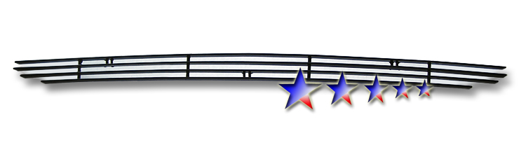 Dodge Challenger  2009-2010 Black Powder Coated Lower Bumper Black Aluminum Billet Grille