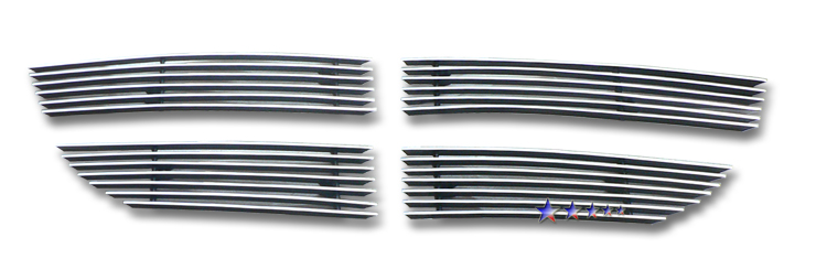 Dodge Journey Sxt 2009-2010 Polished Main Upper Aluminum Billet Grille