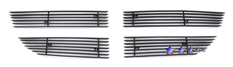 Dodge Journey Sxt 2009-2010 Black Powder Coated Main Upper Black Aluminum Billet Grille