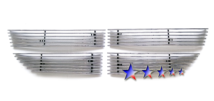 Dodge Journey Sxt 2009-2010 Polished Main Upper Stainless Steel Billet Grille