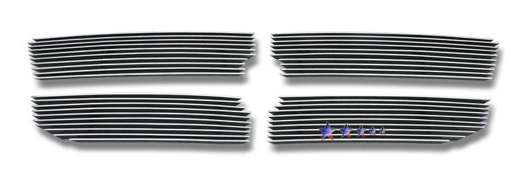 Dodge Dakota  2008-2011 Polished Main Upper Stainless Steel Billet Grille