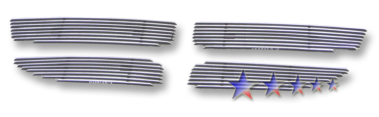 Dodge Caravan  2011-2012 Polished Main Upper Aluminum Billet Grille