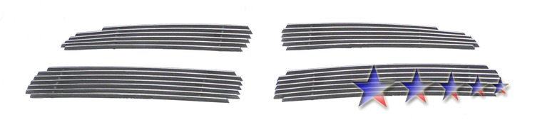 Dodge Charger  2011-2012 Polished Main Upper Aluminum Billet Grille
