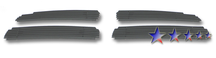 Dodge Charger  2011-2012 Black Powder Coated Main Upper Black Aluminum Billet Grille