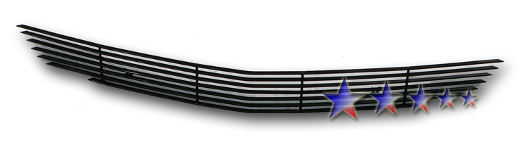 Dodge Charger  2011-2012 Black Powder Coated Lower Bumper Black Aluminum Billet Grille