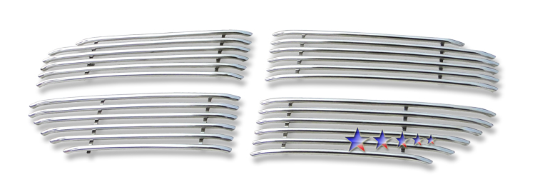 Dodge Magnum  2005-2007 Polished Main Upper Tubular Grille