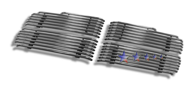 Dodge Ram  2002-2005 Polished Main Upper Tubular Grille