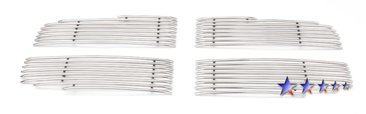 Dodge Ram  2006-2008 Polished Main Upper Tubular Grille