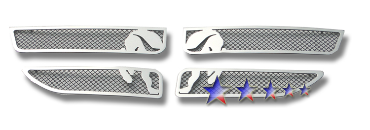 Dodge Caravan  2011-2012 Polished And Black Powder Coated Main Upper Symbolic Grille