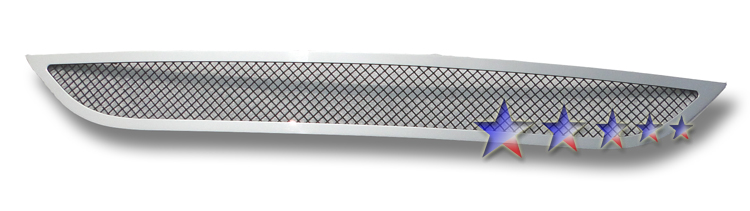 Dodge Caravan  2011-2012 Polished And Black Powder Coated Lower Bumper Mesh Grille