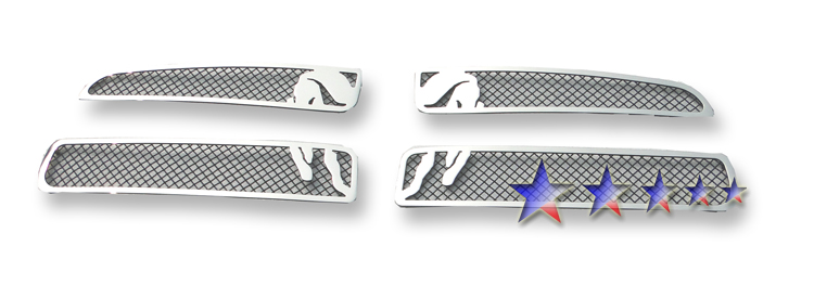 Dodge Charger  2011-2012 Polished And Black Powder Coated Main Upper Symbolic Grille