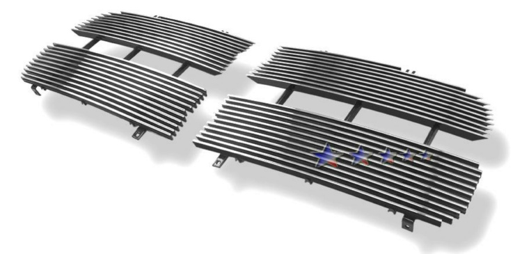 Dodge Ram  2002-2005 Polished Main Upper Aluminum Billet Grille