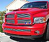 2002 Dodge Ram   Polished Main Upper Stainless Steel Billet Grille