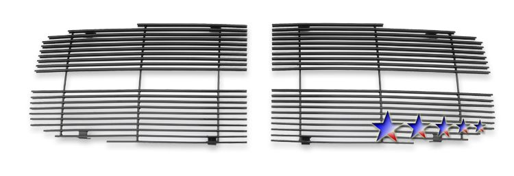 Dodge Durango  2004-2006 Black Powder Coated Main Upper Black Aluminum Billet Grille