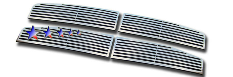 Dodge Durango  2004-2006 Polished Main Upper Perimeter Grille