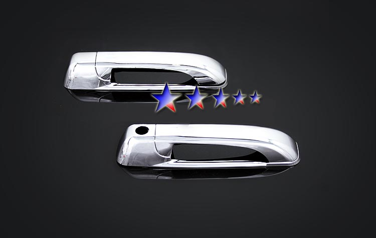 2009-2010  Dodge Ram Regular Cab (w/o Passenger Side Keyhole) Chrome Door Handles