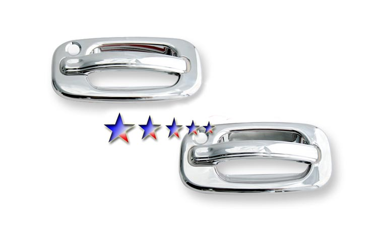 1999-2006  Gmc Sierra Regular Cab (w/ Passenger Side Keyhole) Chrome Door Handles