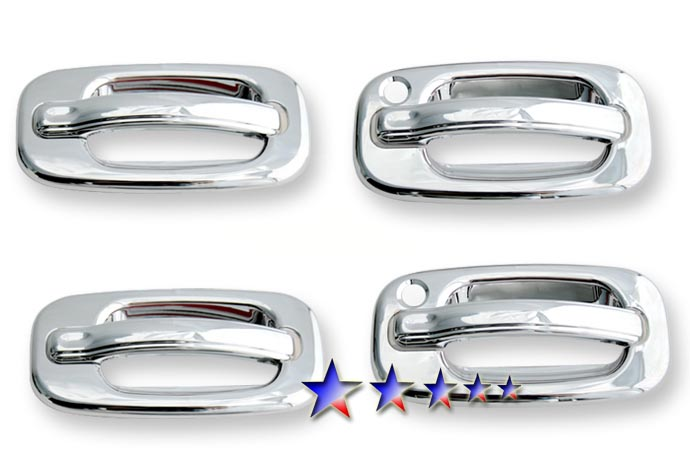 2002-2006  Chevrolet Avalanche  (w/ Passenger Side Keyhole) Chrome Door Handles