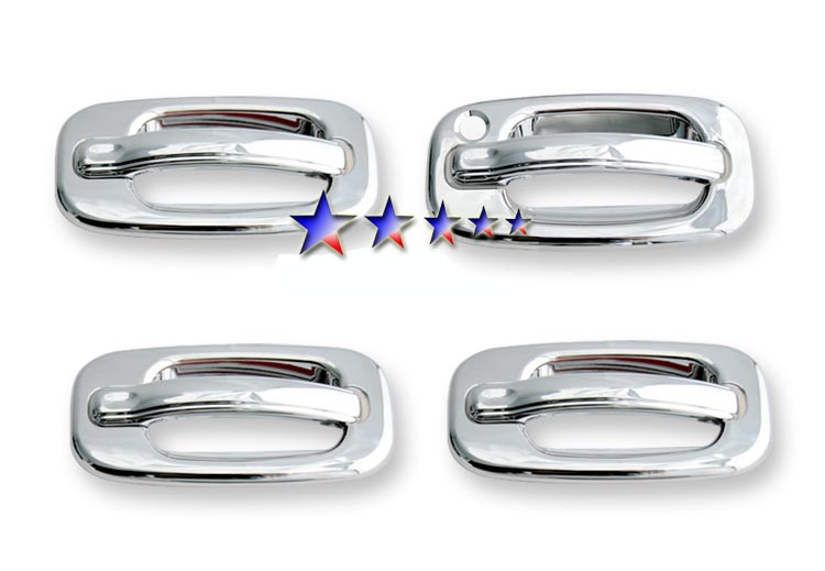 2002-2006  Chevrolet Avalanche  (w/o Passenger Side Keyhole) Chrome Door Handles