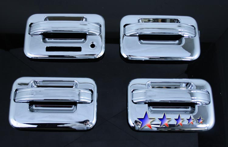 2004-2008  Ford F150 4 Door (w/ Keypad w/o Passenger Side Keyhole) Chrome Door Handles