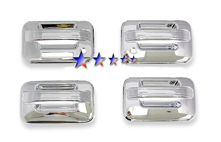 2004-2008  Ford F150 4 Door (w/ Keypad w/ Passenger Side Keyhole) Chrome Door Handles