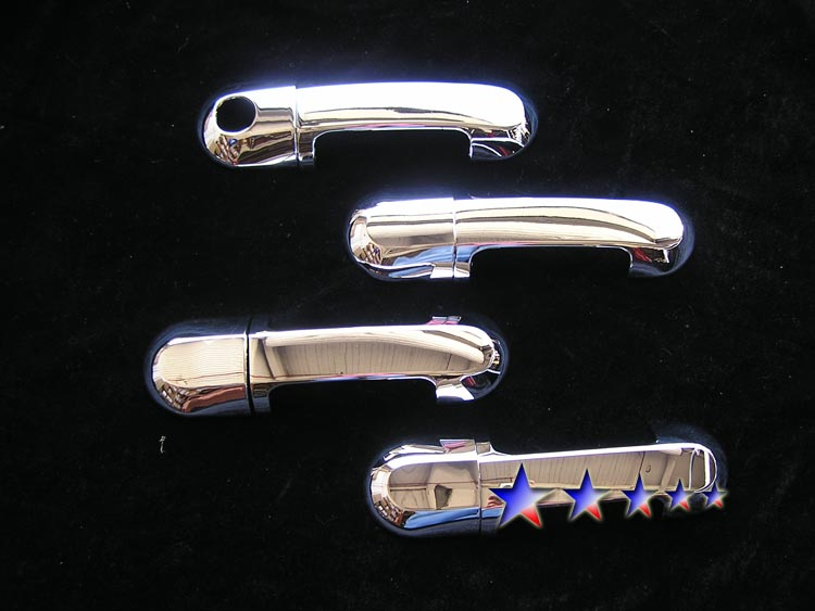 2006-2008  Lincoln Aviator  (w/o Passenger Side Keyhole) Chrome Door Handles