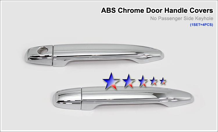 2005-2010  Toyota Tacoma  (w/o Passenger Side Keyhole) Chrome Door Handles