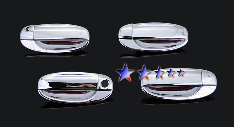 2004-2010  Chevrolet Aveo Hatchback (w/o Passenger Side Keyhole) Chrome Door Handles