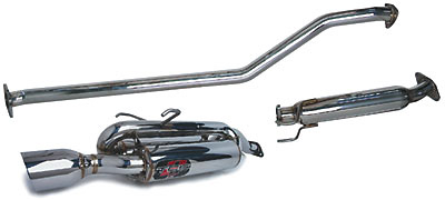 Honda Civic LX (4dr)  01-03 DC Sports Twin-Canister Cat-Back Exhaust Systems
