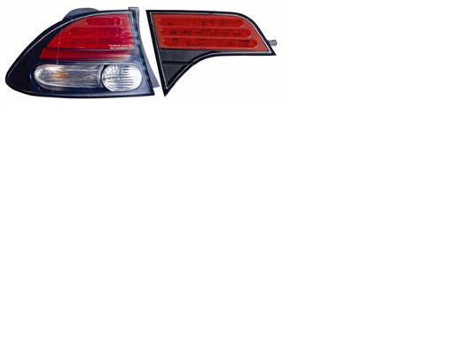 Honda Civic 2006-2007 Black Euro Tail lights