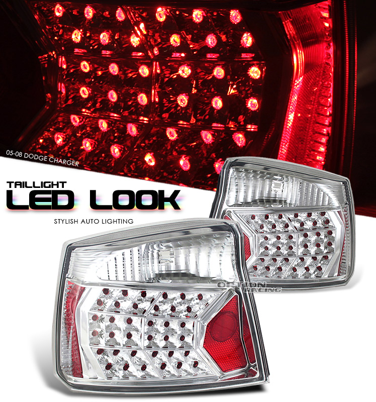 Dodge Charger 2005-2010  Chrome Euro Tail Lights