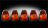 2011 Dodge Ram 2500 & 3500 Heavy-Duty  AMBER LED Cab Lights (5 Piece set)