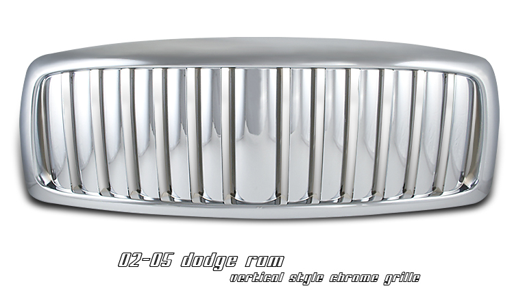 Dodge Ram 2002-2005  Vertical Style Chrome Front Grill