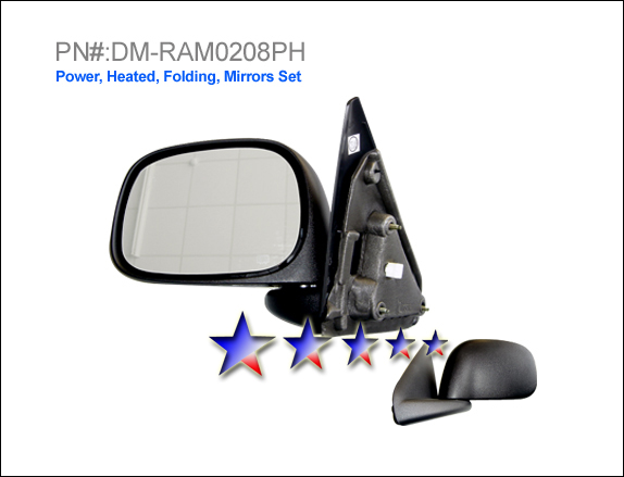 Dodge Ram 2002-2008 Power/Heated Left Side Towing Mirror
