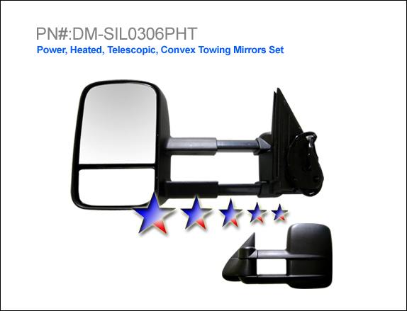 Chevrolet Silverado 2003-2006  Power/Heated/Towing Left Side Towing Mirror