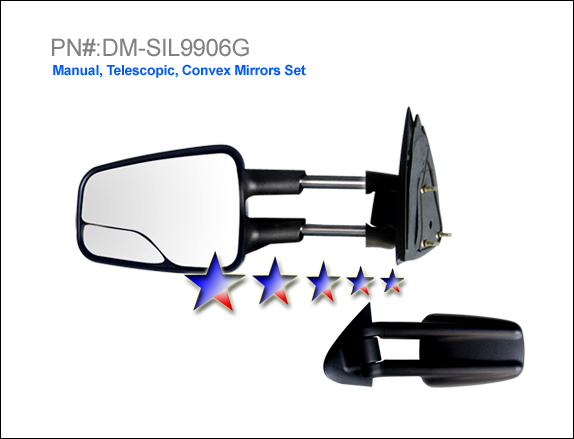 Gmc Sierra 1999-2008  Manual/Towing/Glass Insert Right Side Towing Mirror
