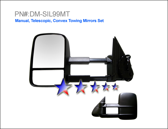 Gmc Sierra 1999-2006 Manual/Towing Extended Left Side Towing Mirror