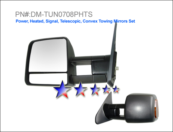 Toyota Tundra 2007-2009 Power/Heated/Towing/Signal Left Side Towing Mirror