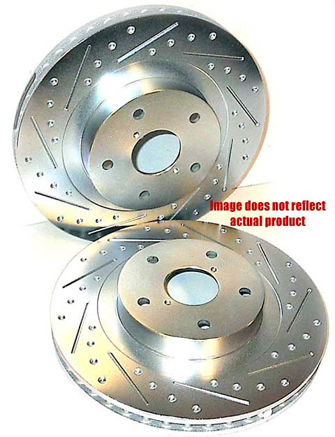 Chevrolet Corvette 97-02 Cross-Drilled and Slotted Powerstop Brake Rotors Front Pair