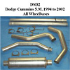 2001 Dodge 5.9L Cummins  Full Boar 4 inch Single Outlet Diesel Exhaust Systems