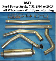 Ford 7.3L Powerstroke 99-02 Full Boar 4 inch Single Outlet Diesel Exhaust Systems